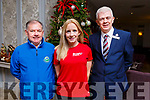 At the launch of Rose Hoel/Optimal Fitness New Years Eve Run for the Kerry Hospice at the Rose Hotel on Monday. L to r: Joe Hennebery (Kerry Hospice), Michelle Greaney (Optimal Fitness) and Mark O'Sullivan (The Rose Hotel).