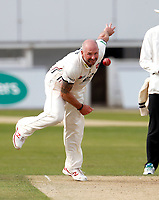 Darren Stevens bowls for Kent during the Specsavers County Championship division two game between Kent and Glamorgan at the St Lawrence Ground, Canterbury, on Sept 18, 2018