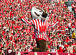 Wisconsin Badgers mascot Bucky Badger during an NCAA college football game against the Minnesota Golden Gophers on October 9, 2010 at Camp Randall Stadium in Madison, Wisconsin. The Badgers beat the Golden Gophers 41-23. (Photo by David Stluka)