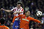 Atl&eacute;tico Madrid 1 - 2 Valencia<br /> en la liga de futbol de espana