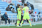 (L to R) <br /> Nahomi Kawasumi, <br /> Yuika Sugasawa (JPN), <br /> MARCH 6, 2015 - Football / Soccer : <br /> Algarve Women's Football Cup 2015 Group C match <br /> between Japan 3-0 Portugal <br /> at Algarve Stadium in Faro, Portugal. <br /> (Photo by YUTAKA/AFLO SPORT)[1040]