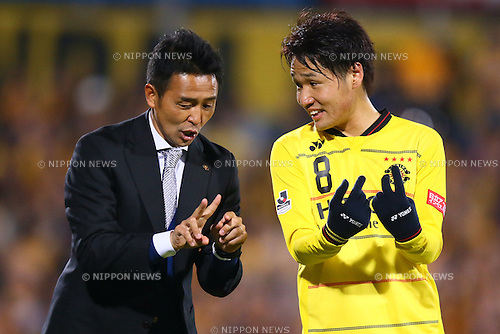 (L-R)<br />  Tatsuma Yoshida,<br /> Akimi Barada (Reysol),<br /> MARCH 13, 2015 - Football / Soccer : <br /> 2015 J1 League 1st stage match between<br /> Kashiwa Reysol 1-1 Vegalta Sendai<br /> at Hitachi Kashiwa Stadium in Chiba, Japan.<br /> (Photo by Shingo Ito/AFLO SPORT)