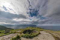 Artillery Battery, Aleutians world war II national historic area, Mt. Ballyhoo, Amaknak Island, Dutch Harbor, Aleutian Islands.