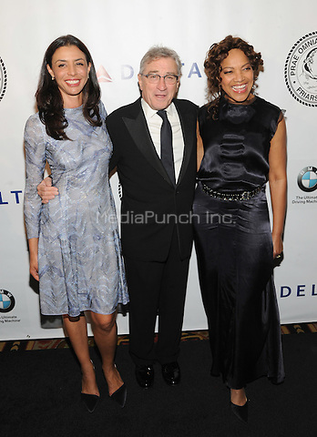 New York, NY- October 7:  Drena De Niro, Robert De Niro and Grace Hightower attend the Friars Foundation Gala honoring Robert De Niro and Carlos Slim at the Waldorf-Astoria on October 7, 2014 in New York City. Credit: John Palmer/MediaPunch
