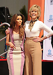 HOLLYWOOD, CA- APRIL 27: Actresses Eva Longoria and Jane Fonda attend actress Jane Fonda's Handprint/Footprint Ceremony during the 2013 TCM Classic Film Festival at TCL Chinese Theatre on April 27, 2013 in Los Angeles, California.