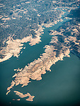 Northwest shore of Folsom Reservoir, Calif. USA Fly-over County-from the window seat of Southwest #1882 from SMF to DAL, September 2016