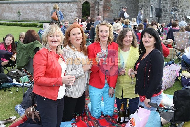 Rosemary Mullen, Margaret Tallon, Anne Cubitt, Sandra Crinion and Lorraine Collins at the Outdoor Production of Romeo and Juliet at Oldbridge Estate...(Photo credit should read Jenny Matthews/NEWSFILE)...