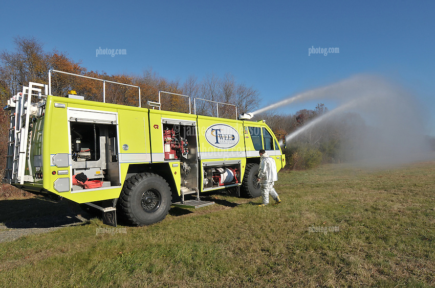 Tweed-New Haven Airport Disaster, Rescue and Fire Fighting Personnel and Equipment. Rosenbauer Panther 4x4 Rescue and Fire Intervention Vehicle and Ops Crew.