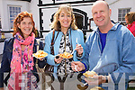 Feasting on fresh Scallops at the King Scallop Festival in Valentia on Saturday last were l-r Olivia Kennedy, Trish & Dave McCormack.