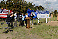 Ground Breaking Ceremony for the New Meigs Point Nature Center at Hammonasset Beach State Park  <br /> Connecticut State Project No: BI-T-601 | Northeast Collaborative Architects  Contractor: Secondino &amp; Son
