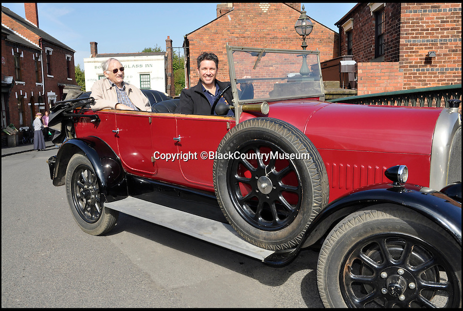 BNPS.co.uk (01202 558833)<br /> Pic: BlackCountryMuseum/BNPS<br /> <br /> ***Please Use Full Byline***<br /> <br /> Graeme French and son Timothy came all the way from Australia to take a spin in his Grandfather's 1925 'Bean 14' car after the family discovered it refurbished and on display at the Black Country Living Museum.<br /> <br /> <br /> Intrepid Graeme French has travelled 9,000 miles to drive his late grandfather's vintage car after finding it had been saved by a British museum.<br /> <br /> Graeme, 77, recalled sitting in the the 1925 Bean 14 motor with grandfather Thomas Woodall as a young boy.<br /> <br /> After Mr Woodall suffered from ill-health in the 1940s he put the red car in a garage he owned in Smethwick in Birmingham where it remained untouched for years.<br /> <br /> It was only when the lease on the garage expired and his widow was reminded of the car that it finally left the family.