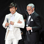 """Byung-hun Lee and Joe Shishido, May 27, 2013 : Tokyo, Japan : South Korean Actor Byung hun Lee(L) and Japanese actor Joe Shishido attend the Japan premiere for the film """"G.I.Joe:Retaliation"""" in Tokyo, Japan, on May 27, 2013. The film will open on June 7 in Japan. (Photo by Keizo Mori/AFLO)"""