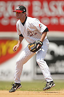 Hickory second baseman Cameron Blair on defense versus Asheville at L.P. Frans Stadium in Hickory, NC, Sunday, May 21, 2006.  Hickory defeated Asheville 5-4.