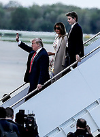 President Trump Arrives At Andrews Air Force Base