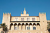 facade of the royal Almudaina Palace<br /> <br /> fachada del Palacio Almudaina<br /> <br /> Fassade des Almudaina-Palasts