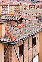 Terra cotta rooftops of Segovia, Spain