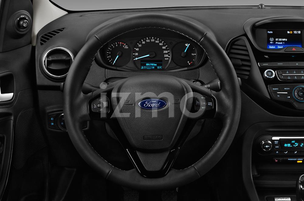 Car pictures of steering wheel view of a 2017 Ford KA+ Ultimate 5 Door Hatchback Steering Wheel