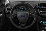 Car pictures of steering wheel view of a 2017 Ford KA+ Ultimate 5 Door Hatchback Steering Wheel