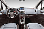 Straight Dashboard View 2014 Opel MERIVA Cosmo 5 Door Mini MPV 2WD Stock Photo