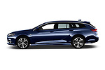 Car driver side profile view of a 2018 Opel Insignia Sports Tourer Dynamic 5 Door Wagon