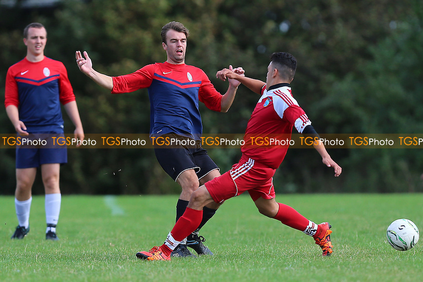 London United Sports (red/white) vs Shakespeare, Hackney & Leyton Sunday League Football at Hackney Marshes on 25th September 2016