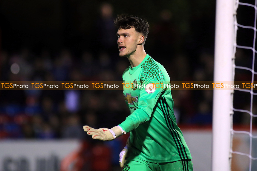 Manchester United goalkeeper, Kieron O'Hara during Chelsea Under-23 vs Manchester United Under-23, Premier League 2 Football at the EBB Stadium on 9th December 2016