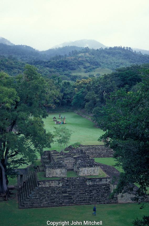 Early morning at the Maya ruins of Copan, Honduras