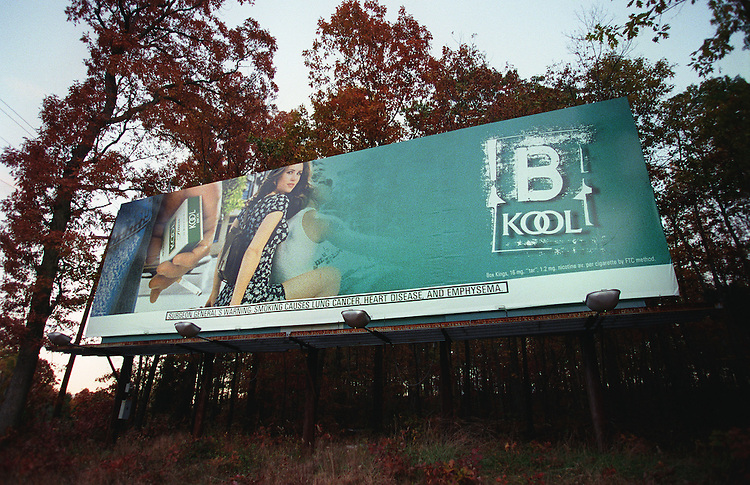 11/3/97.TOBACCO--A Kool cigarette billboard along U.S. 29 near Gainesville, Va..CONGRESSIONAL QUARTERLY PHOTO BY SCOTT J. FERRELL