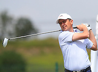 Peter Lawrie (IRL) on the 1st tee during Round 1 of the Challenge de Madrid, a Challenge  Tour event in El Encin Golf Club, Madrid on Wednesday 22nd April 2015.<br /> Picture:  Thos Caffrey / www.golffile.ie