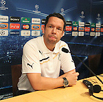 UEFA Champions League, Barcelona, Camp Nou, Press conference before match FC Barcelona v FC Viktoria Plzen. Picture show Pavel Horvath