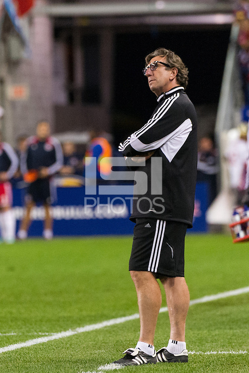Toronto FC head coach Paul Mariner. The New York Red Bulls defeated Toronto FC 4-1 during a Major League Soccer (MLS) match at Red Bull Arena in Harrison, NJ, on September 29, 2012.