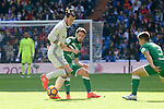 Real Madrid's player Gareth Bale and Leganes's  player Unai Lopez and Unai Bustinza during a match of La Liga at Santiago Bernabeu Stadium in Madrid. November 06, Spain. 2016. (ALTERPHOTOS/BorjaB.Hojas)