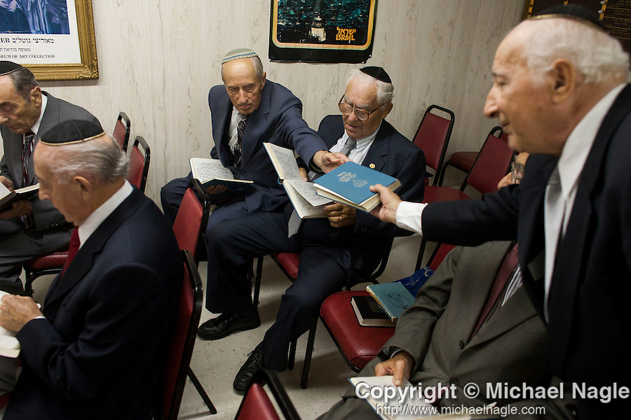 ***&copy; 2005 MICHAEL NAGLE  ALL RIGHTS RESERVED***<br /> <br /> Members of the Four Seasons Lodge Catskills bungalow colony, a summer retreat for Holocaust survivors, attend a party on August 20, 2005.  Photograph by Michael Nagle