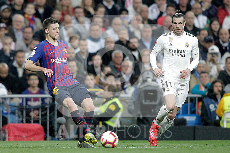 Real Madrid CF's Gareth Bale and FC Barcelona's Ousmane Dembele during La Liga match. March 02,2019. (ALTERPHOTOS/Alconada)