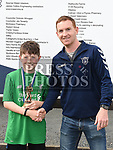 Ardee Celtic's U-10 player of the year Liam O'Connor with Under age Secretary David Martin. Photo:Colin Bell/pressphotos.ie