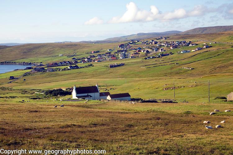 Gulberwick village, Mainland, Shetland Islands, Scotland