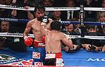 Hotel MGM DE LAS VEGAS Nevada , pelea por el titulo mundial de la OMB ,Etre Manny Pacquiao vs Juan manuel Marquez ganando Pacquiao por desicion..