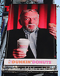 Harold Prince joins Dunkin Donuts to celebrate 'National Donut Day' as well as unveiling their new Electronic Billboard in Times Square, New York on 6/1/2012© Walter McBride .