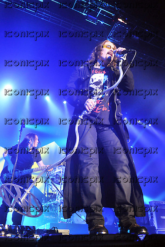 Dream Theater - vocalist James LaBrie performing live at Wembley Arena London UK - 10 Feb 2012.   Photo credit: Sarah Jeynes / IconicPix