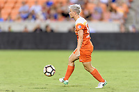 Houston, TX - Saturday July 08, 2017: Janine van Wyk looks to pass the ball during a regular season National Women's Soccer League (NWSL) match between the Houston Dash and the Portland Thorns FC at BBVA Compass Stadium.