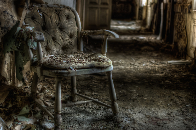 Chair in old hotel