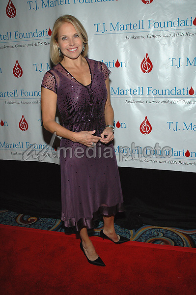 6 October 2005 - New York, New York - NBC Today Show host Katie Couric arrives at the T.J. Martell Foundation 30th Anniversary Gala at the Marriott Marquis in Times Square.  <br />Photo Credit: Patti Ouderkirk/AdMedia