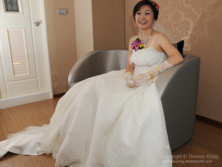Taiwanese Wedding -- Relaxing after the ceremony.