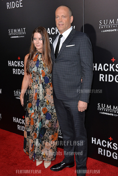LOS ANGELES, CA. October 24, 2016: Actor Vince Vaughn &amp; wife Kyla Weber at the Los Angeles premiere of &quot;Hacksaw Ridge&quot; at The Academy's Samuel Goldwyn Theatre, Beverly Hills.<br /> Picture: Paul Smith/Featureflash/SilverHub 0208 004 5359/ 07711 972644 Editors@silverhubmedia.com