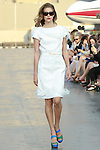 Maranna walks runway in a Douglas Hannant Resort 2012 outfit, on the USS Intrepid, June 7, 2011.
