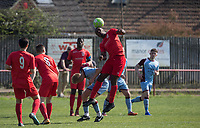 Action during the UHLSport Hellenic Premier League match between Flackwell Heath v Tuffley Rovers at Wilks Park, Flackwell Heath, England on 20 April 2019. Photo by Andy Rowland.
