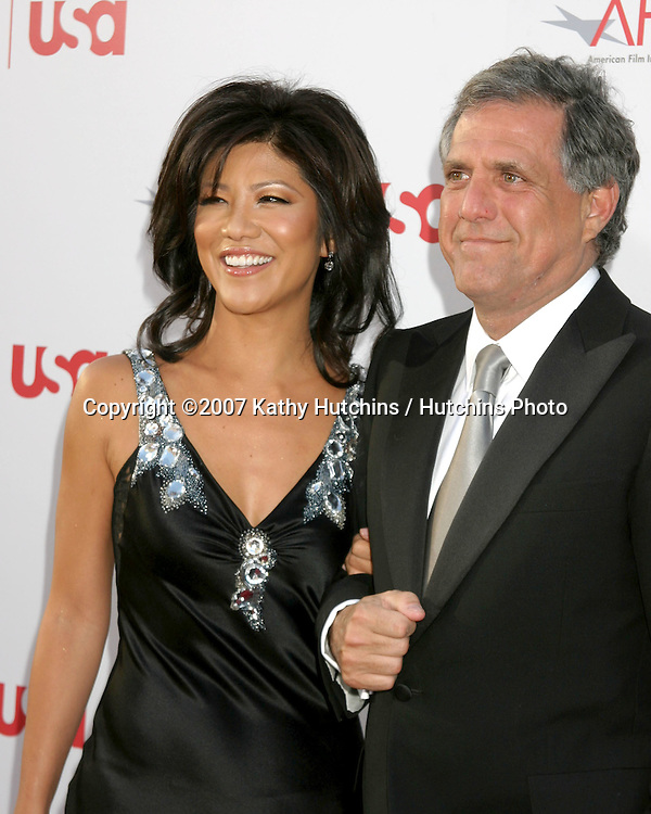 Julie Chen & Les Moonves.AFI Salute to Al Pacino.Kodak Theater.Los Angeles, CA.June 7, 2007.©2007 Kathy Hutchins / Hutchins Photo....