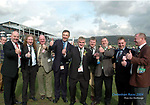 Cheltenham Races 2004 Tuesday 16-3-2004<br />This bunch of hardy Kerrymen, Mike McCarthy, Dodo O'Sullivan, Brian Quill, Danny Tim O'Sullivan, Ger Counihan,<br />Donal Martin Griffin, Karl Daly  and PeadarvO'Sullivan were all smiles at Cheltenham Races on Wednesday.<br />Picture by Don MacMonagle<br /> NOTE: CHELTENHAM MOBILE 353 87 9092831<br /> info@macmonagle.com