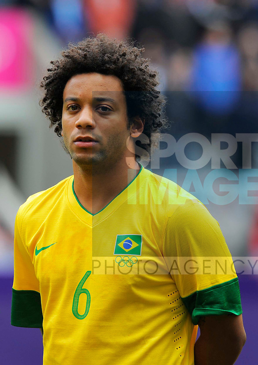 Brazil's Marcelo..London Olympic 2012 first round Group C men's match between Brazil v New Zealand at the St. James' Park, Newcastle upon Tyne on the 1st August 2012. Pic Richard Lee/SPORTIMAGE...