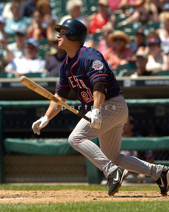 Brett Boone, of the Minnesota Twins,  in action against the Detroit Tiger on July 23, 2005...Tigers win 2-1...David Durochik / SportPics